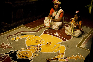 Kalamezhuthu an evidence of art mixed in every heritage and tradition of the country banner image