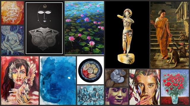 Works on view at Majlis Art Forum