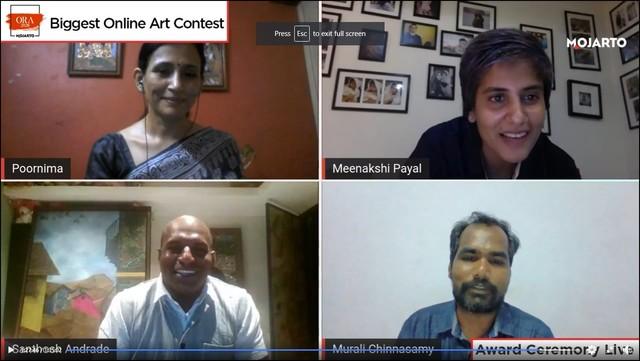 Poornima Shivram, CEO , Mojarto with winners of professional category