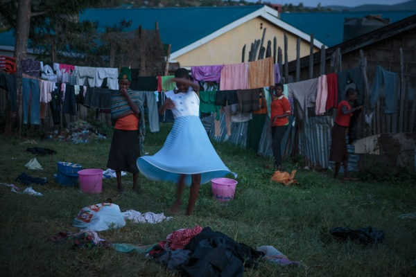 Newsha Tavakolian1. A young girl twirls in a carefree moment during laundry day at the Samburu Girls Foundation.All Images are Courtesy of the Photographer