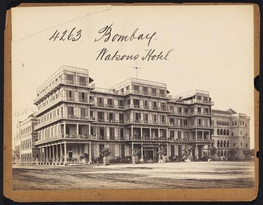 Watson's Hotel in Bombay, 19th century photographs