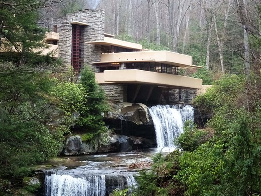 Falling Waters, the Kaufmann Residence by Frank Lloyd Wright, Pennsylvania,