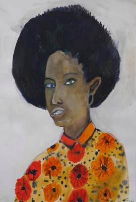 Afro Oria, Watercolour on watercolour paper, 420 mm x 297 mm, 2015.