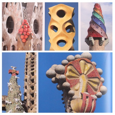 Antoni Gaudi's signature creamy furrows and peaks that are always part of his buildings