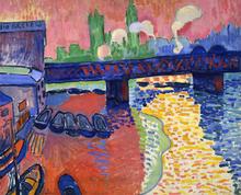 André Derain, 1906, Charing Cross Bridge, London, National Gallery of Art, Washington, DC Image credit: Wikipedia