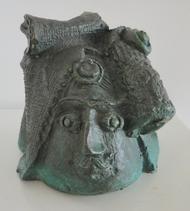 Untitled by Laxma Goud, Art Deco Sculpture, Bronze, Gray color