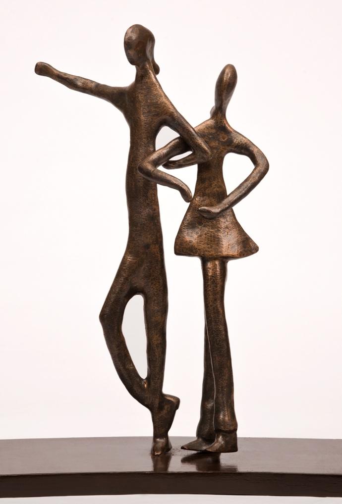 Tango by Manjari Goenka, Art Deco Sculpture | 3D, Bronze, White color