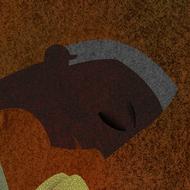 Care by Suvarna Sohoni, Digital Digital Art, Digital Print on Canvas, Brown color