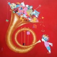 the childhood Digital Print by shiv kumar soni,Expressionism, Fantasy