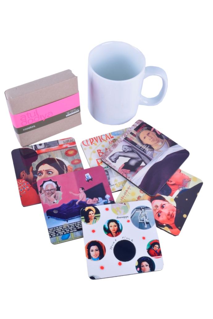 Atul Dodiya Coaster (Set of 6) Coaster Set By Vadehra Bookstore