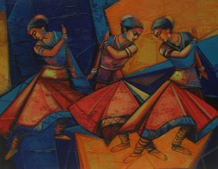 Rhythmscape series 1 by Anindya Mukherjee, Decorative Painting, Acrylic on Canvas,