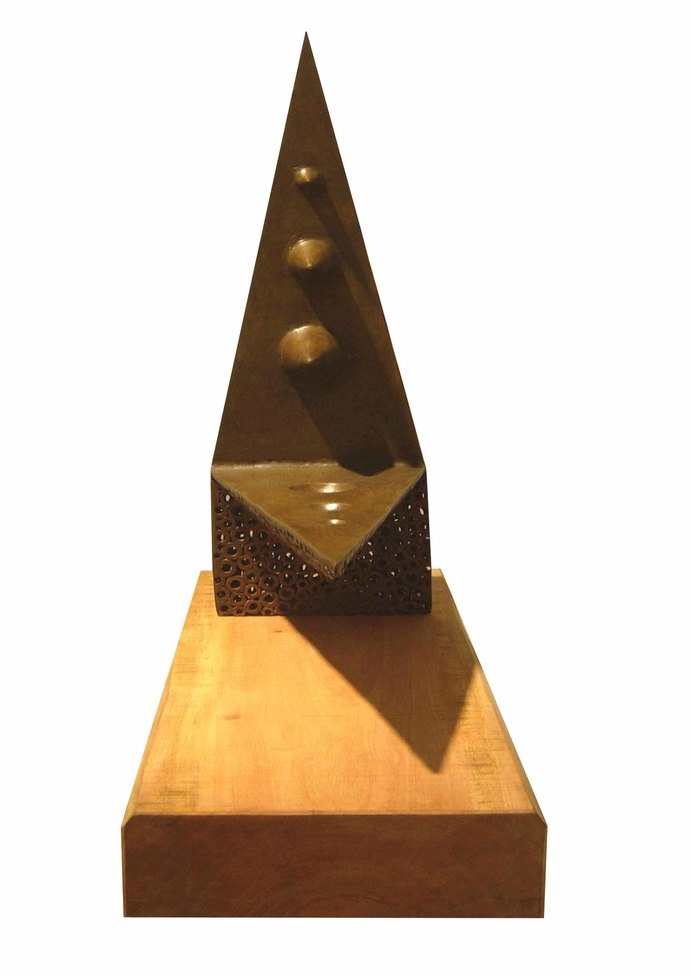 Friction by Sukanta Chowdhury, Conceptual Sculpture | 3D, Brass, White color