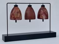 Silent Chimes 4 by Shweta Mansingka, Conceptual Sculpture   3D, Ceramic, Gray color