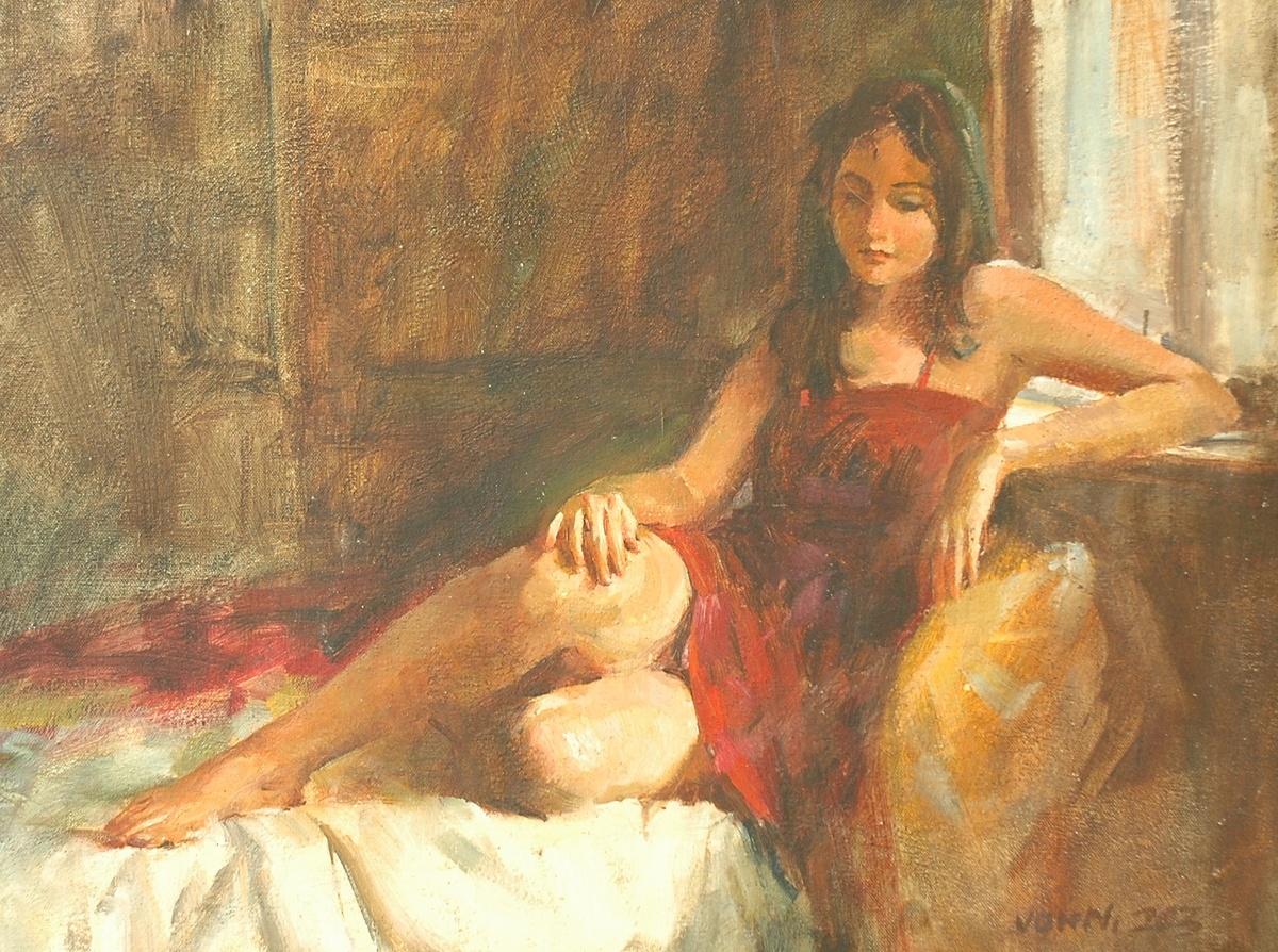 Charming sasha 18x24 oil on canvas