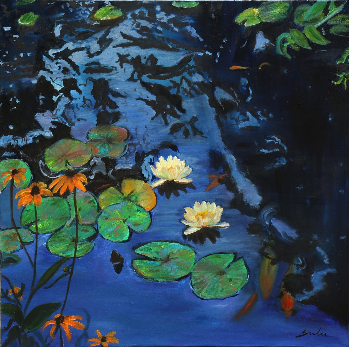 Lily  pond 10 30x30