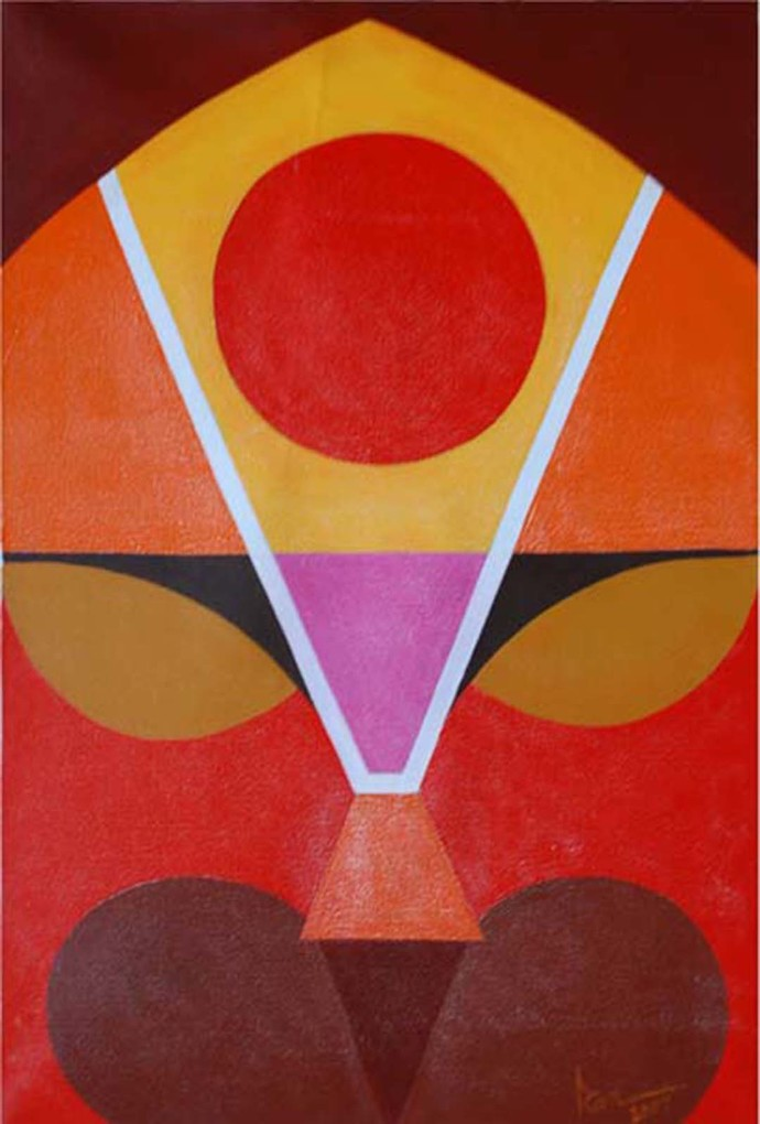 Untitled by Ram Rokade, Decorative Painting, Acrylic on Canvas, Brown color