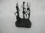 Gossip by Jignesh Jariwala, Art Deco Sculpture   3D, Metal, Gray color