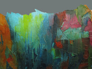 Nagarhole III by Abhishek Kumar, Abstract Painting, Oil Pastel on Canvas, Green color