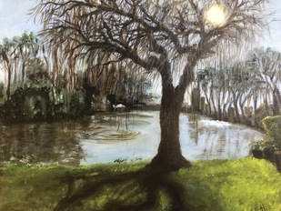 The Gleam and the Grotesque by Abhinaya Ramadurai, Impressionism Painting, Oil on Canvas,
