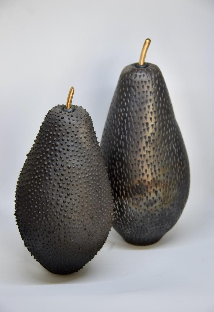 Fruit, the womb of creation 3 - the noir series by Shweta Mansingka, Art Deco Sculpture | 3D, Ceramic, Gray color