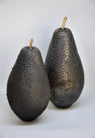 Fruit, the womb of creation 4 - the noir series by Shweta Mansingka, Art Deco Sculpture | 3D, Ceramic, Gray color