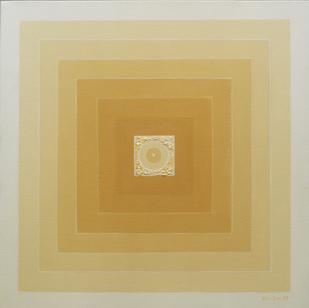Panchabhuta -III by Dipa Das, Geometrical Painting, Acrylic on Canvas,