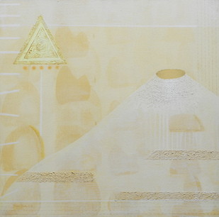 Panchabhuta -V by Dipa Das, Geometrical Painting, Acrylic on Canvas,
