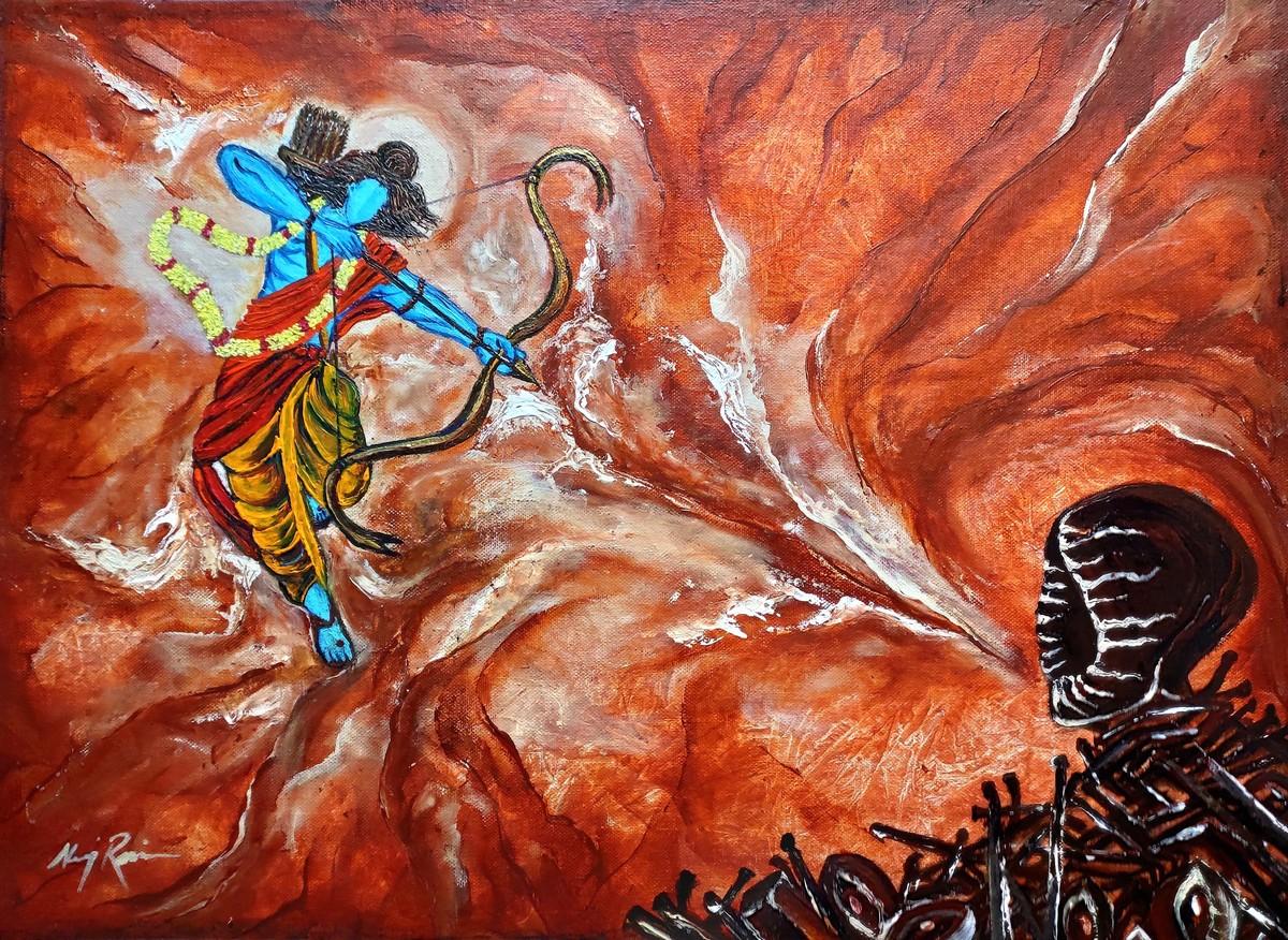 Lord rama victory over evil  kitne ravan marenghe