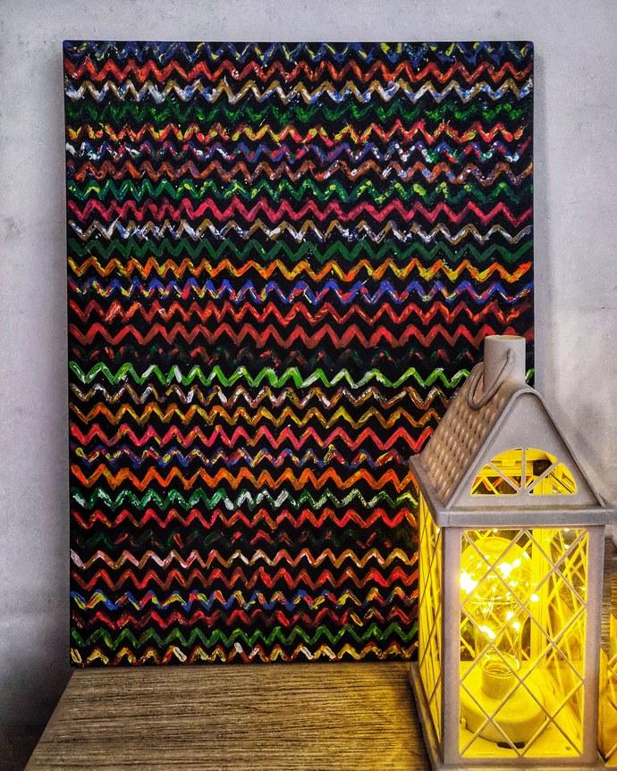 Spectrum Digital Print by RUBPREET KAUR,Geometrical