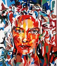 Kaleidoscope by Samta, Pop Art Painting, Acrylic on Canvas, Brown color