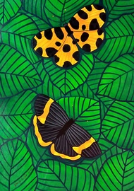 Colors of Nature 5 by Sreya Gupta, Pop Art Painting, Acrylic on Canvas, Green color