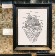 The Floating Island by Chayanika Sood, Illustration Digital Art, Digital Print on Paper, Alto color
