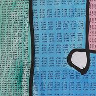 Ram (i) by Jignesh Jariwala, Geometrical Painting, Acrylic on Canvas, Kashmir Blue color