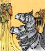Jaisalmer by Mrinal Dutt, Decorative Painting, Acrylic on Canvas,
