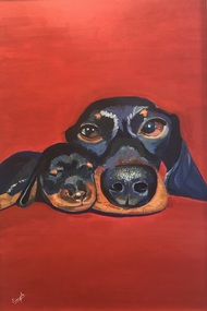 Mumma! by Simple Mohanty, Expressionism Painting, Acrylic on Canvas, Mojo color
