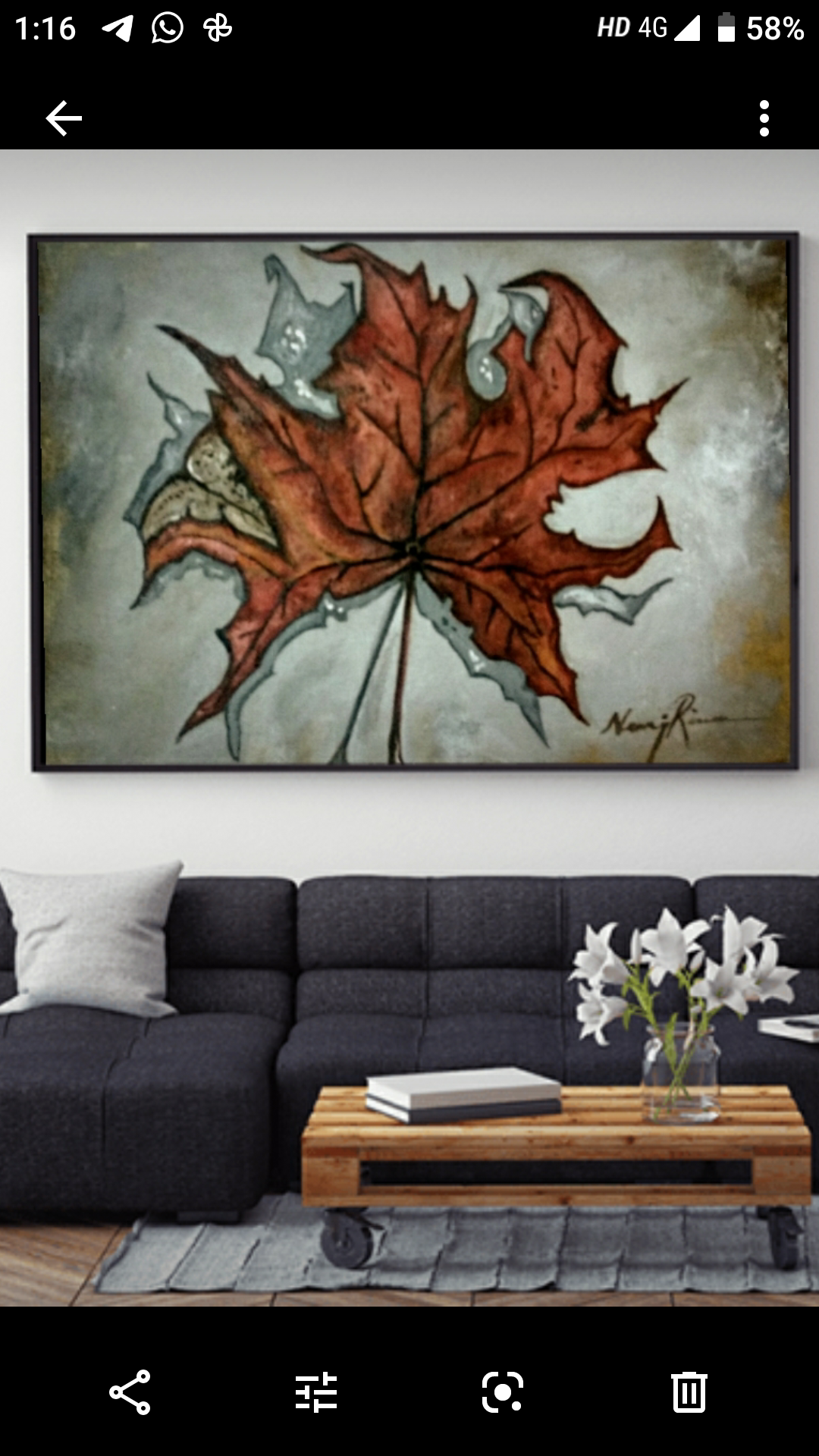 Maplehues from kashmir on wall2