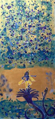 Victory by Vyoma A Parikh , Expressionism Painting, Acrylic on Canvas, Bandicoot color