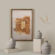 The Brown Wall Digital Print by Sreya Prasad ,Pop Art