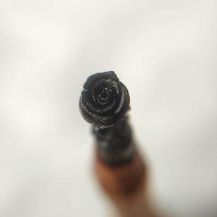 Rose Sculpture Carved on the Tip of Pencil by Eder Art, Art Deco Sculpture | 3D, Wood, Cararra color