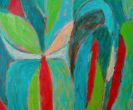UNTITLED by ashwini patil, Abstract Painting, Acrylic on Canvas, Sea Green color