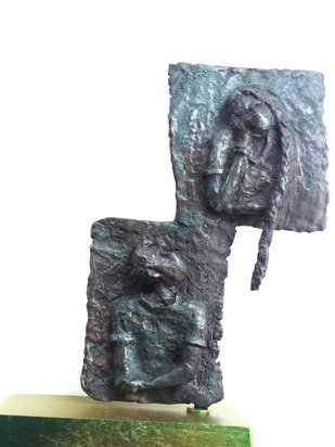 2020 The Lockdown by Usha Ramachandran, Abstract Sculpture | 3D, Bronze, Outer Space color