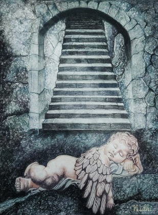 ANGEL Digital Print by Nidhi Bhatia,Surrealism