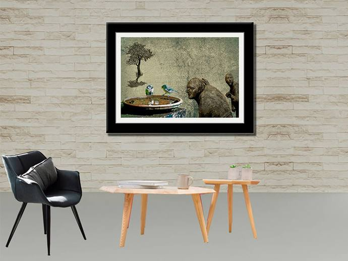 Garden - Limited Edition of 20 by Mayurakshi, Digital Digital Art, Giclee Print on Hahnemuhle Paper, Bandicoot color