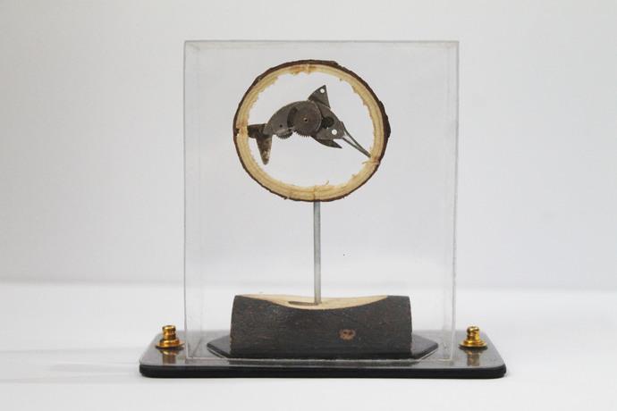 Steampunk Swordfish by Nikhil Dayanand, Art Deco Sculpture   3D, Metal, Silver color