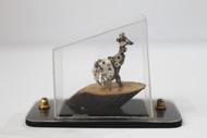 Steampunk Giraffe by Nikhil Dayanand, Art Deco Sculpture   3D, Metal, Silver color