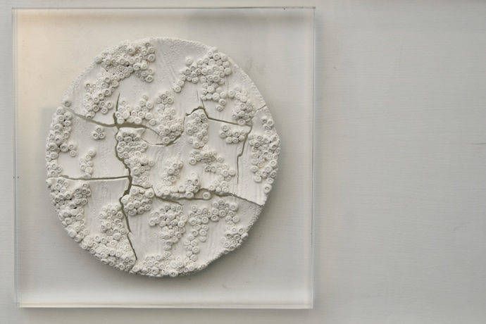 Multifaceted Self by Shweta Mansingka, Abstract Sculpture   3D, Ceramic, Silver color