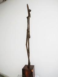 RESTING GRACE by BASUDEB BISWAS, Art Deco Sculpture | 3D, Bronze, Gray color