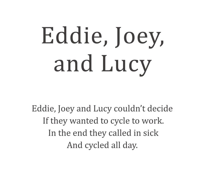 Eddie, Joey & Lucy by Berny & Philip, Image Photography, Print on Paper, White color