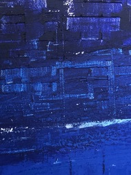 Shades Of Blue by Swati Goel, Abstract Painting, Acrylic on Canvas, Tea color