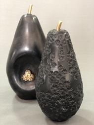 Fruit, the womb of creation - Noir Embossed cherry blossom by Shweta Mansingka, Art Deco Sculpture   3D, Ceramic, Tuatara color